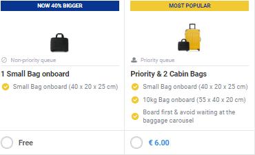 Bags Ryanair