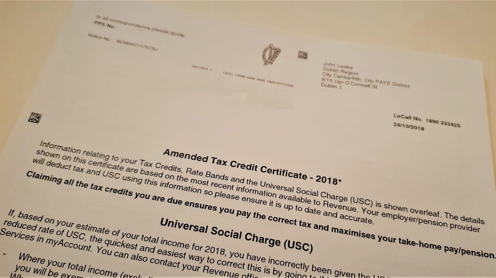 Revenue Tax 2018 - Arquivo Pessoal Itamar Junior para Mochilando na Europa