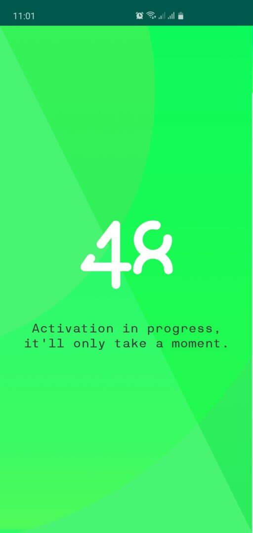 STEP 4 Ativação em progresso