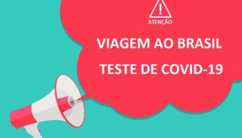 Brasil Exige Teste de COVID-19