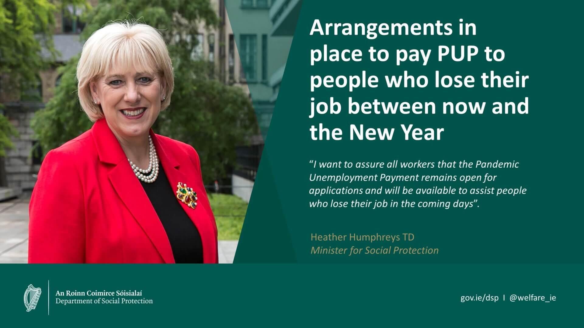 Minister Humphreys via @mywelfare_ie Twitter