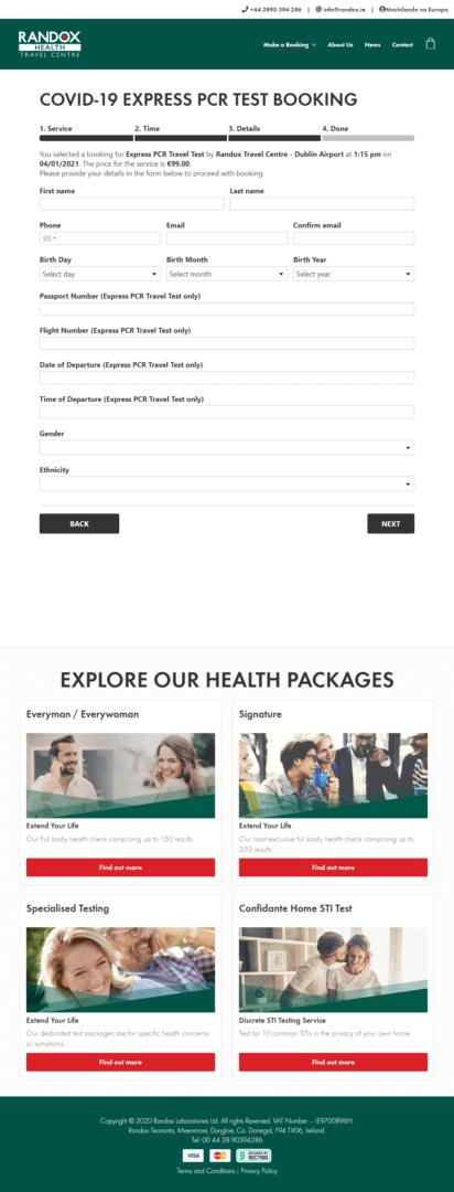 Randox Step 4 - Informar os dados pessoais