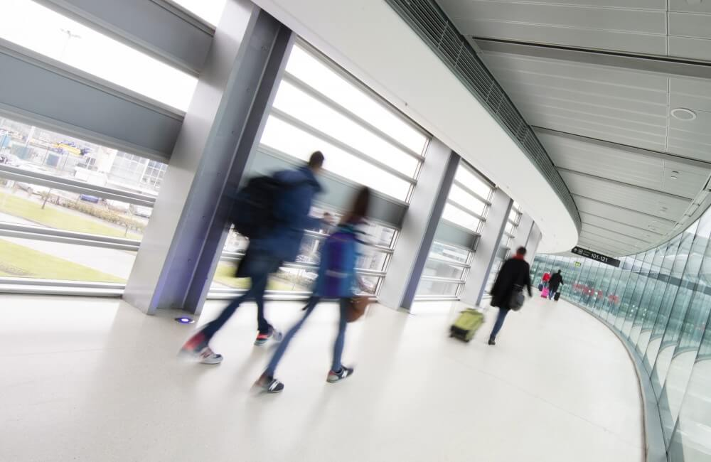 Dublin Airport Foot Path - via Twitter @DublinAirport