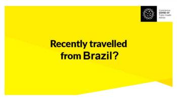COVID-19: Irlanda Retesta Recém Chegados do Brasil