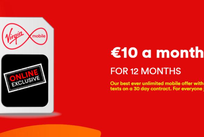 Virgin Mobile Em Promoção Por 10 Euros