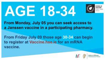 COVID-19: Irlanda Libera Vacina da Janssen Para Maiores de 18 Anos
